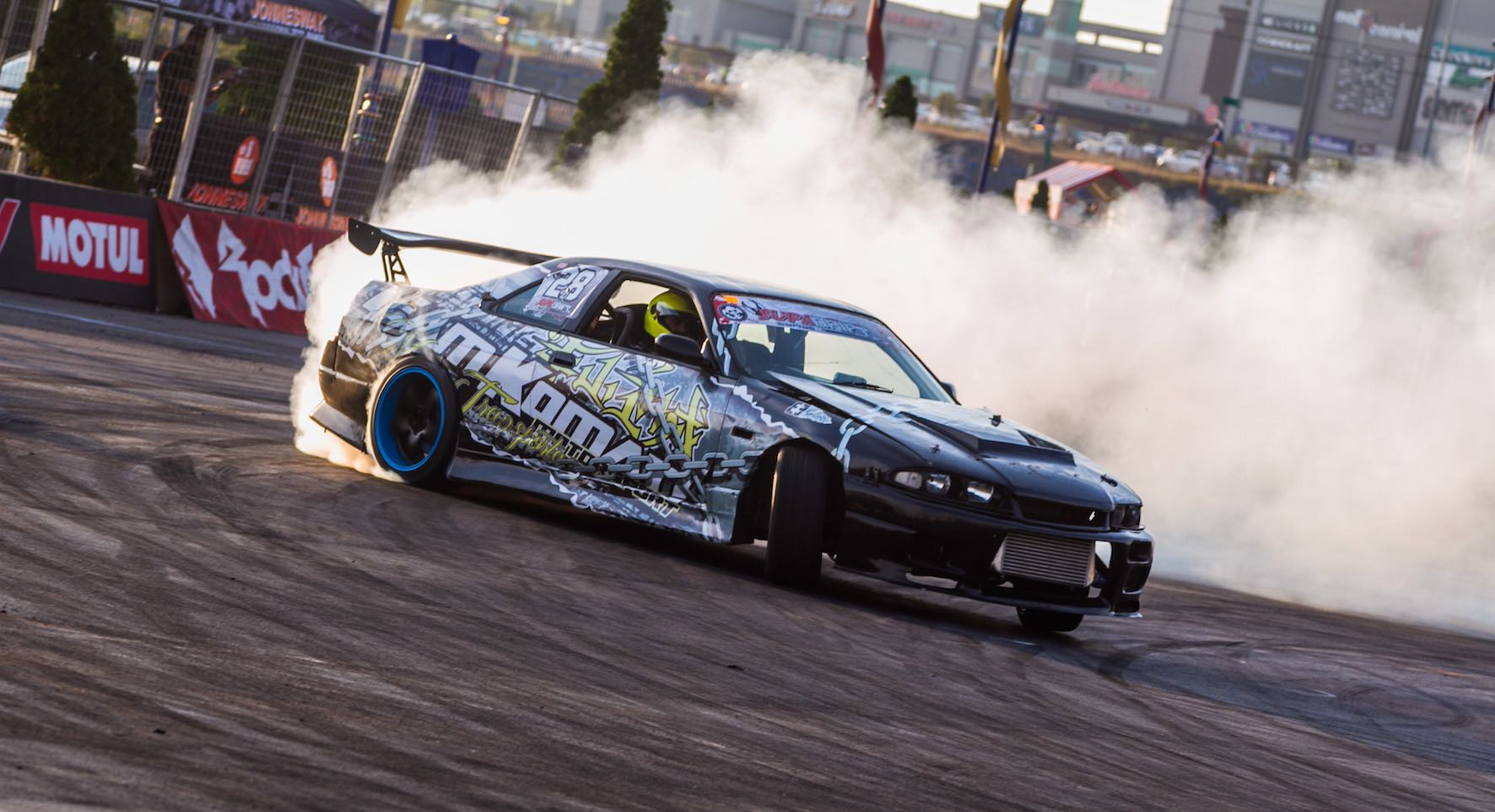 Drifting action from Round 1 of the 2018 SupaDrift Series