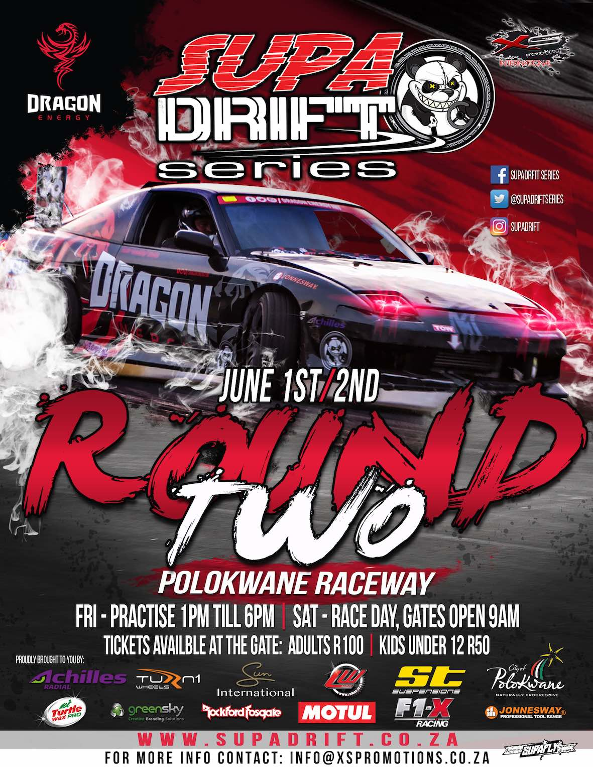 Drifting action comes to Polokwane for round 2 of the 2018 Supadrift Series