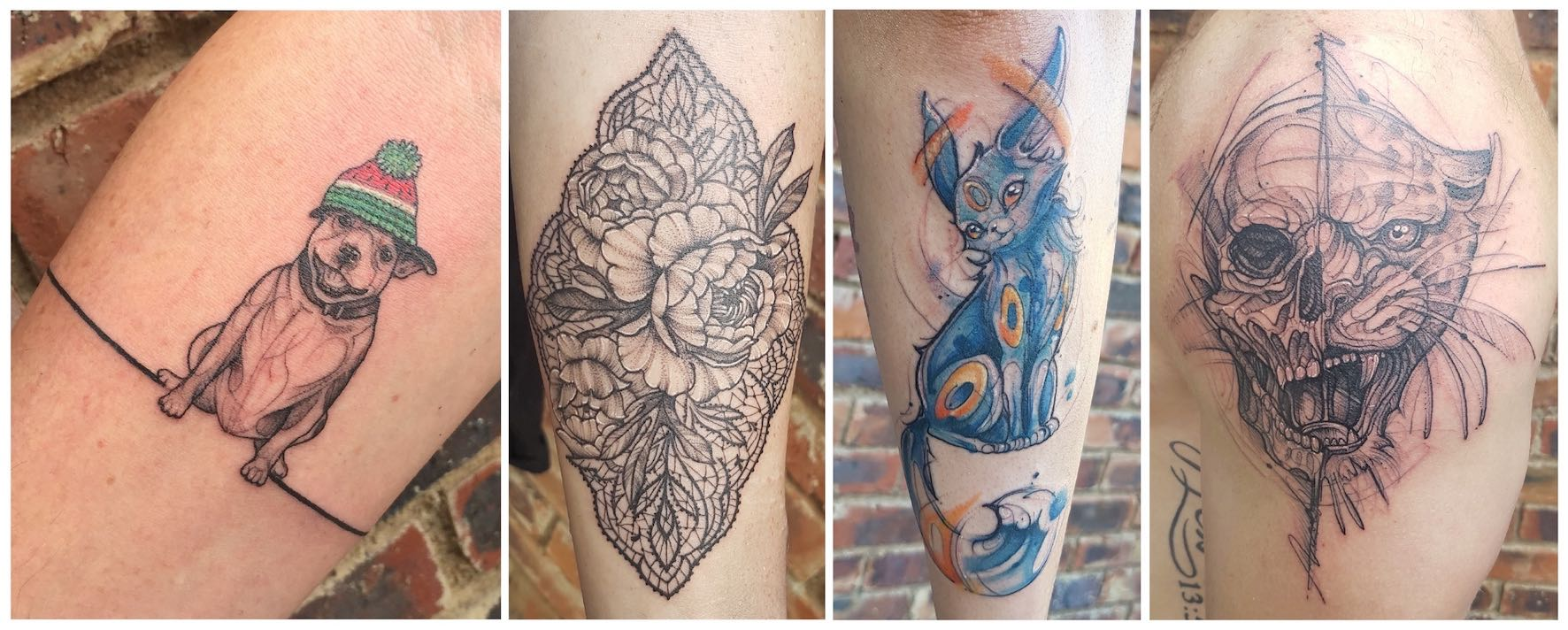 A selection of tattoos created by Rocio Todisco