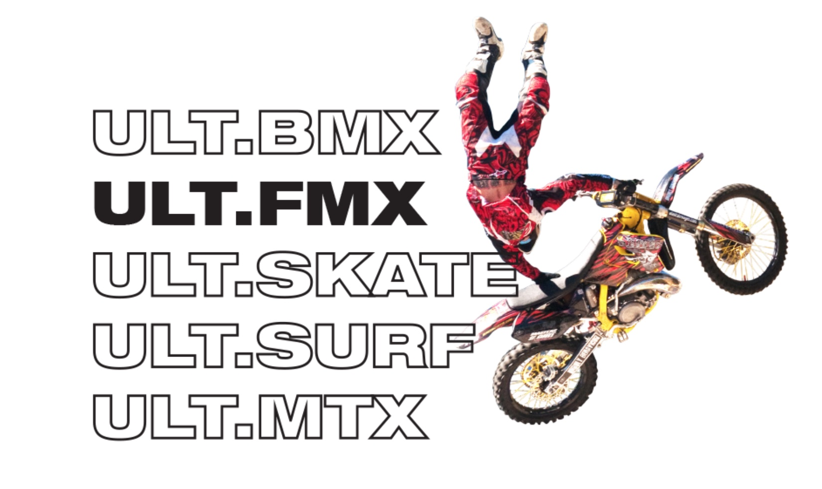 The 2018 ULX.X Action Sports Festival competing FMX Athletes