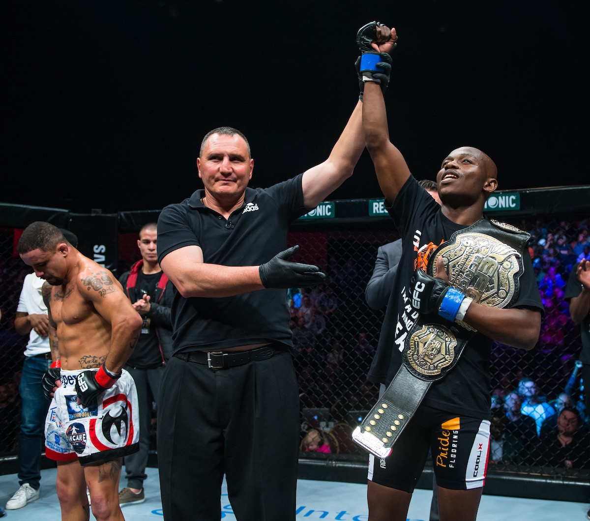 Nkazimulo Zulu wins the EFC Flyweight Title