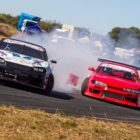 Tandem drifting action from Round 1 of the 2018 SupaDrift Series
