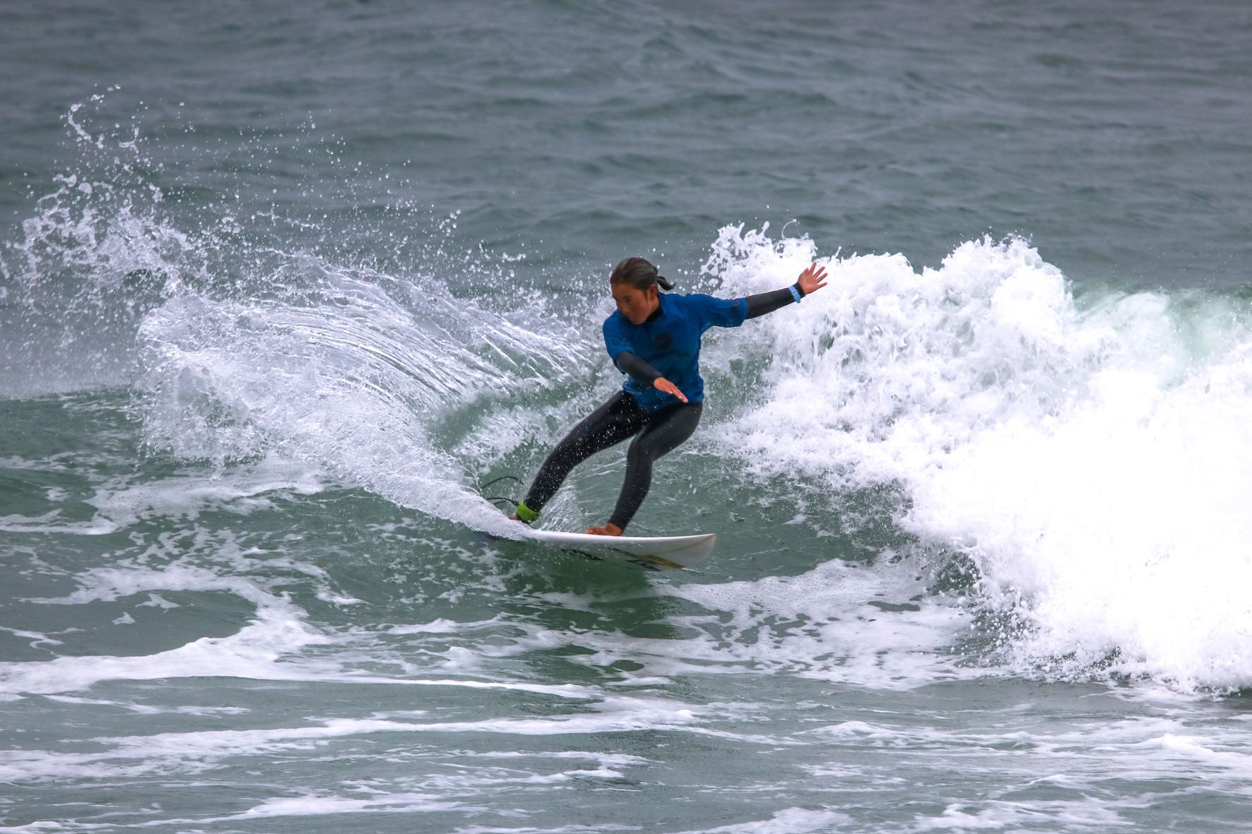 Minami Nonaka surfing her way to victory at the Jordy Smith Cape Town Surf Pro