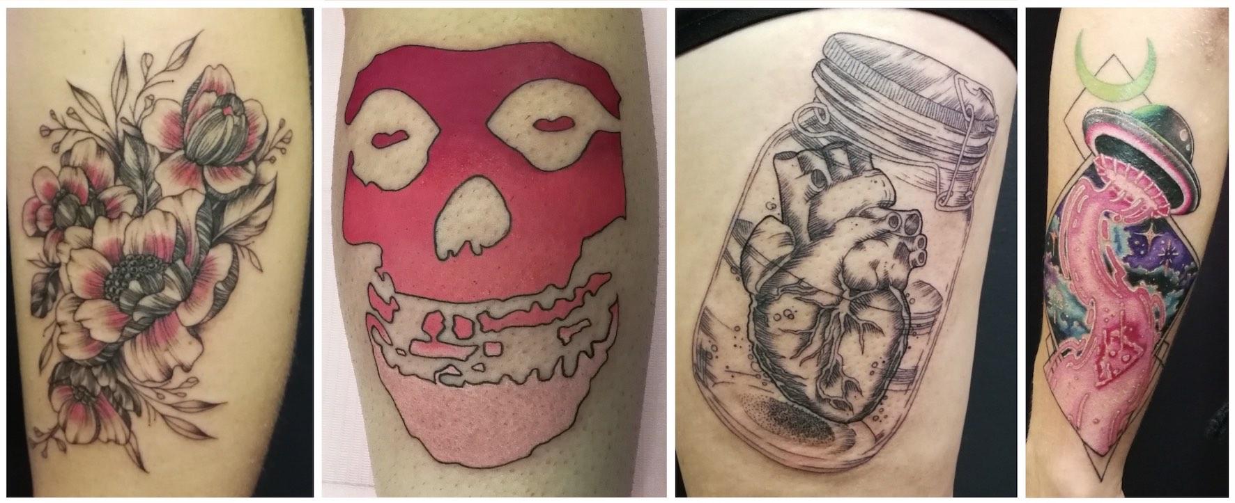 Tattoos created by Chelsea-Rae Marsh