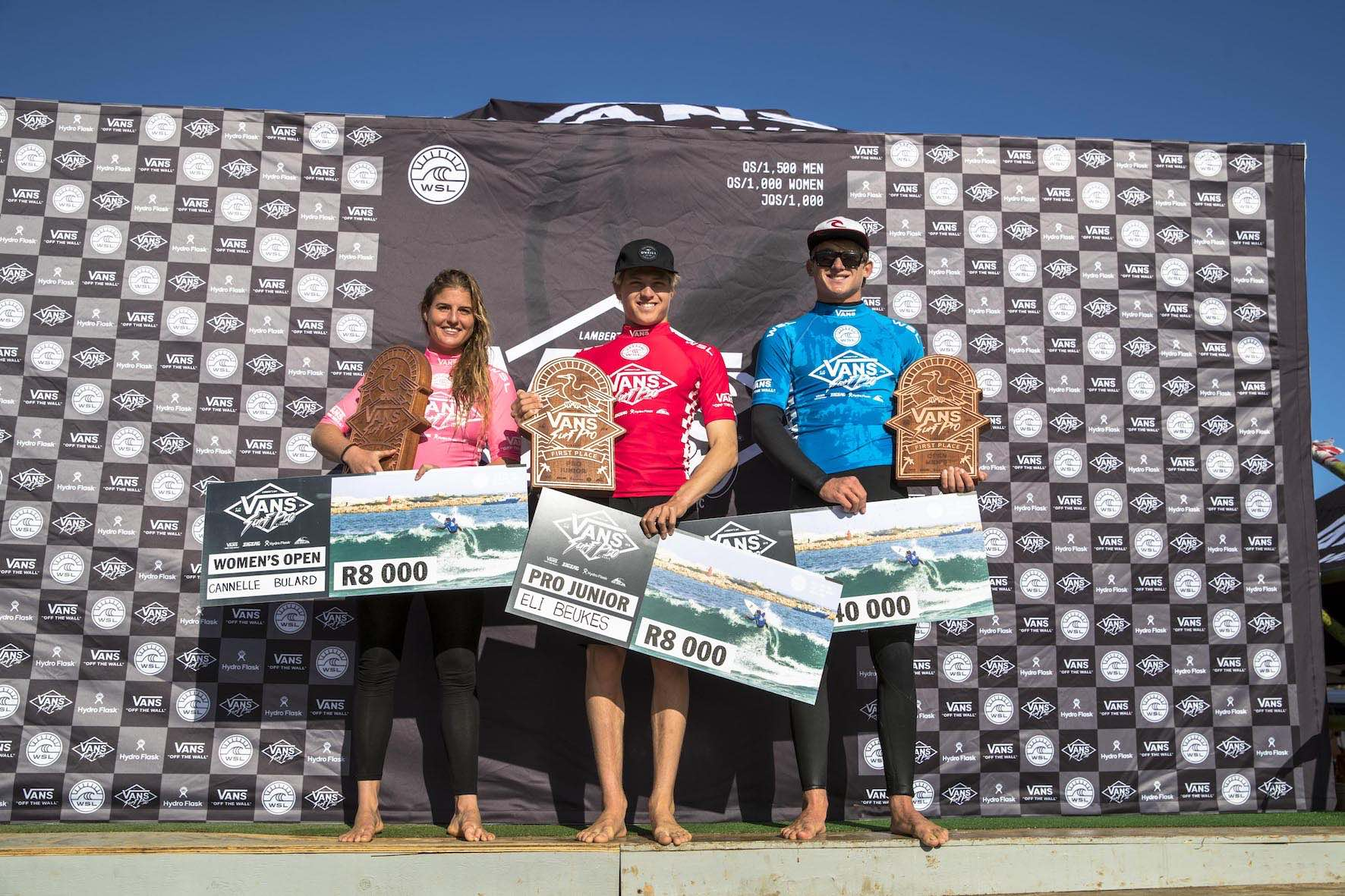 Podium from the 2018 Vans Surf Pro Classic