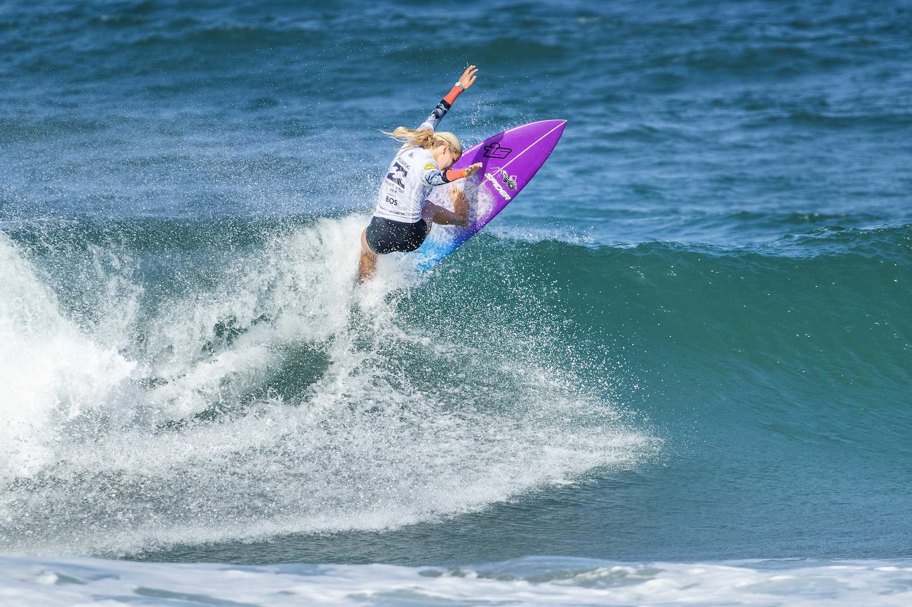 Zoe Steyn surfing her way to victory at the Bilabing Junior Series in Ballito