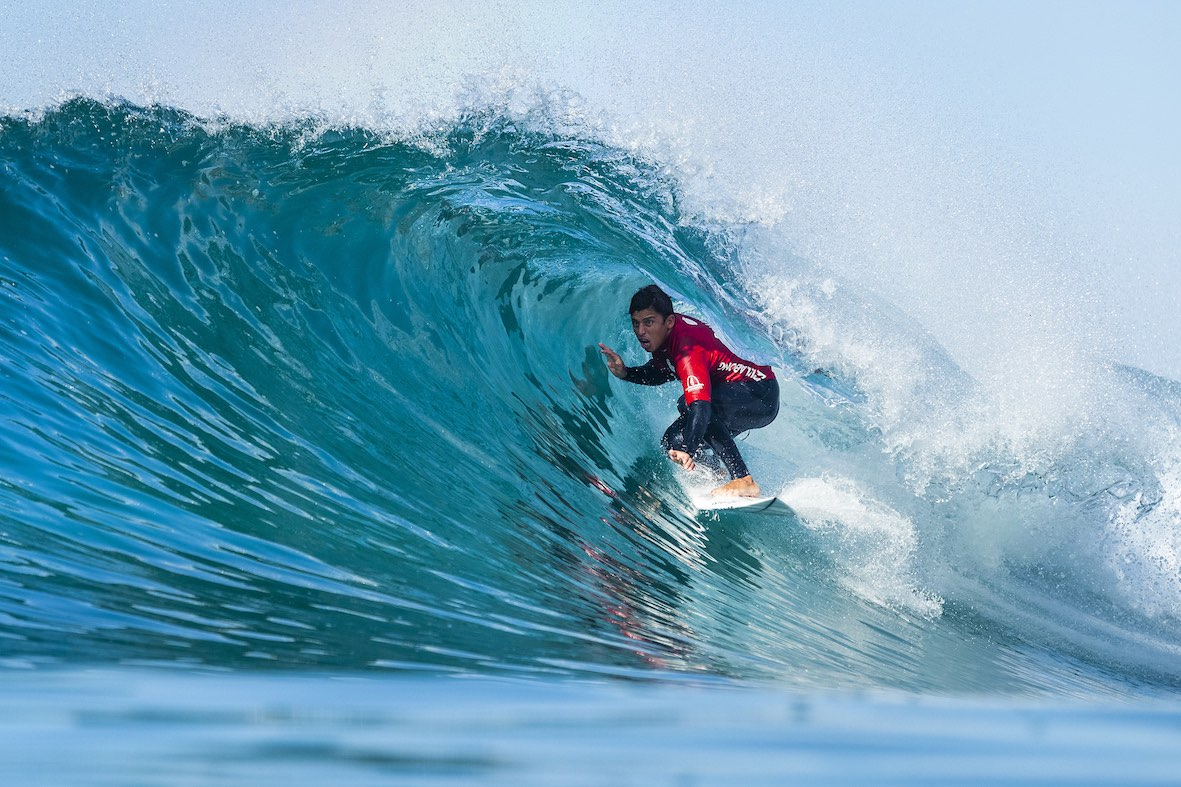 Peterson Crisanto surfing his way to victory in the 2018 Ballito Pro presented by Billabong