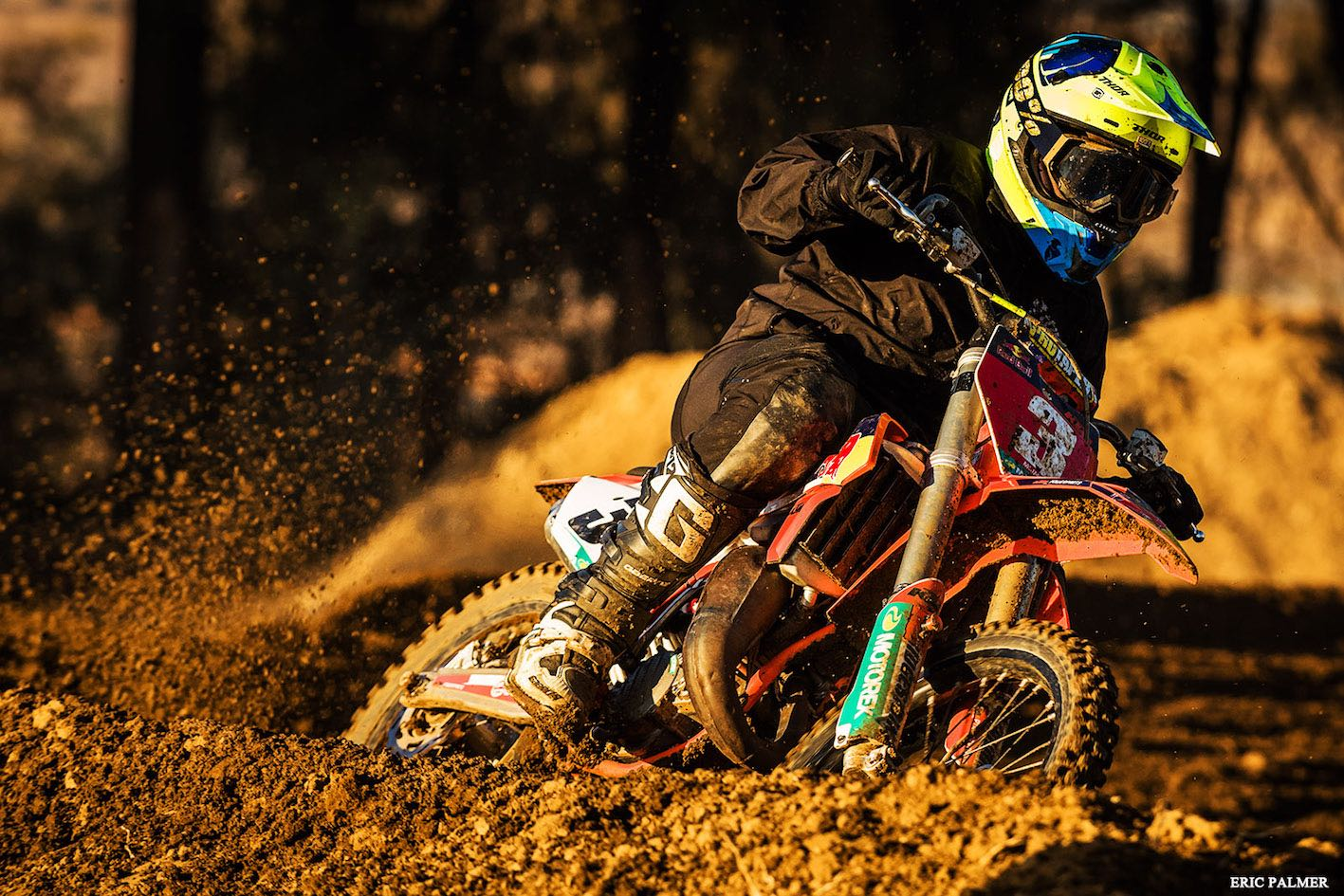Jonathan Mlimi taking the win in the Pro Mini class at the MX Nationals