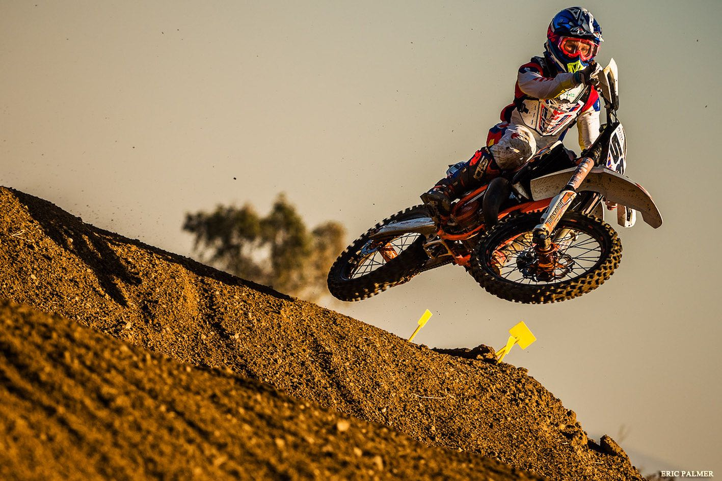 Cameron Durow taking the win in the 125cc High School class at the Motocross Nationals