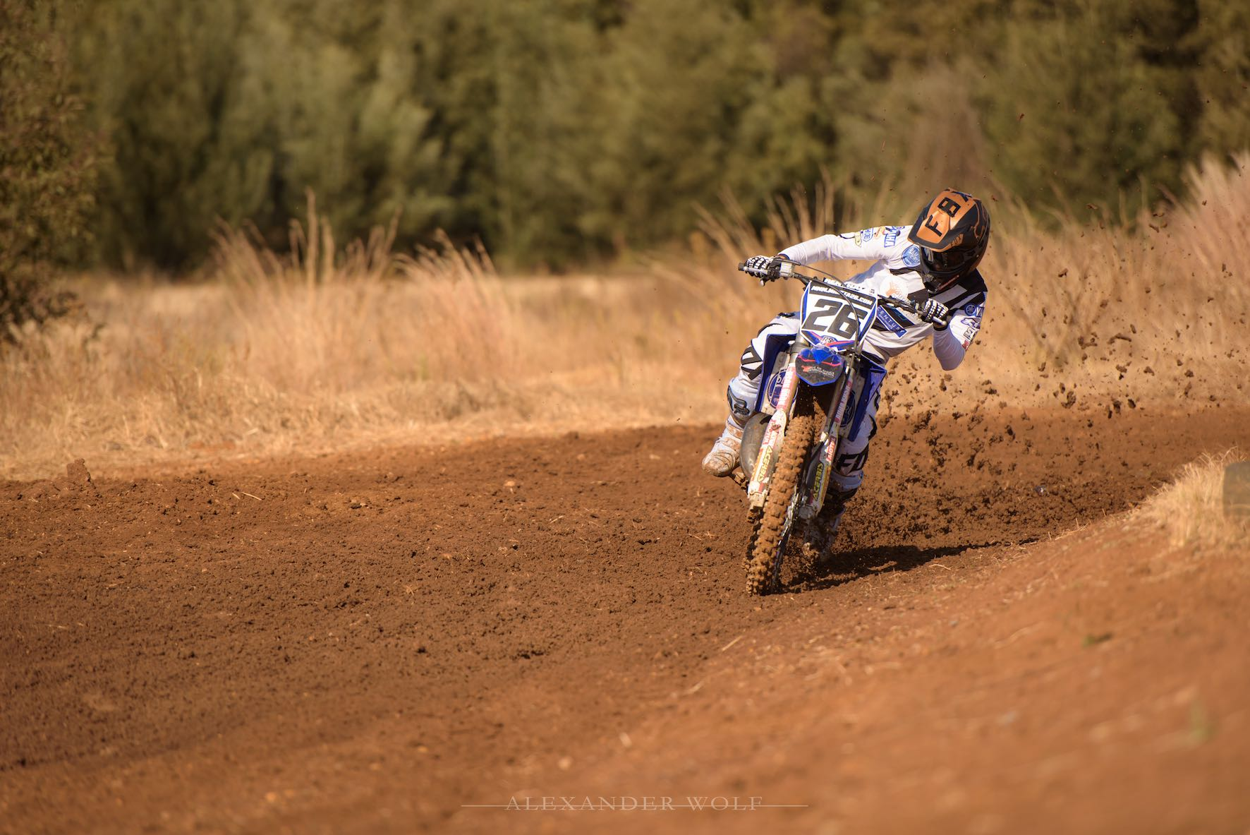 Miguel de Waal riding at the Smoking Piston MX Track