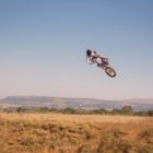 Miguel de Waal whipping his motocross bike