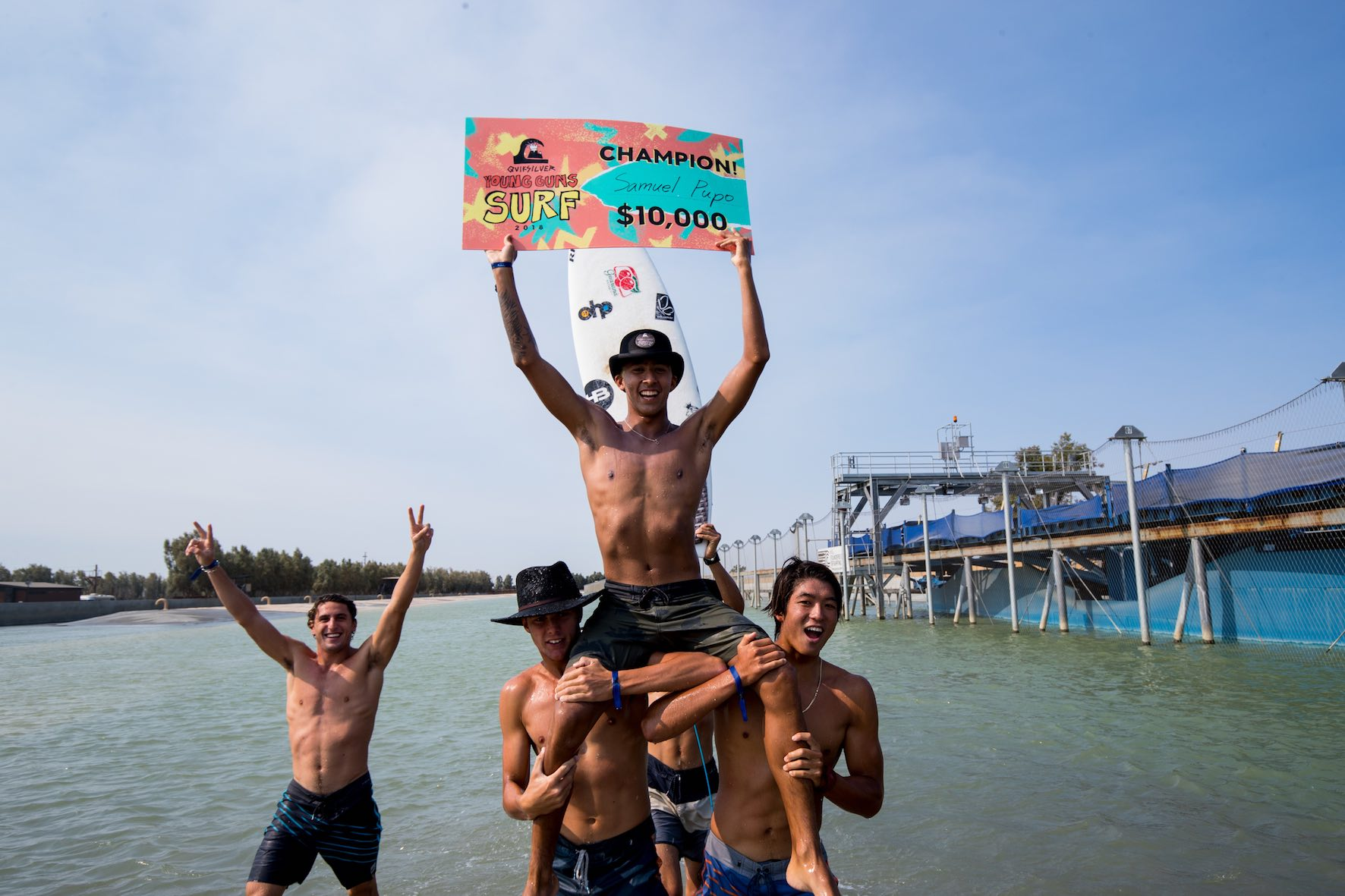 Samuel Pupo wins the the 2018 Quiksilver Young Guns WSL Surf Ranch Showdown