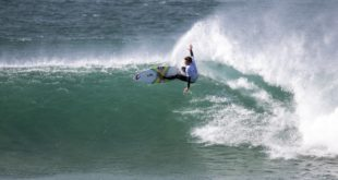 Matthew McGillivray surfing in the 2018 Corona Open J-Bay