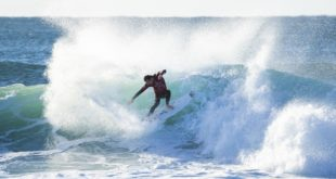 Jordy Smith surfing in the 2018 Corona Open J-Bay