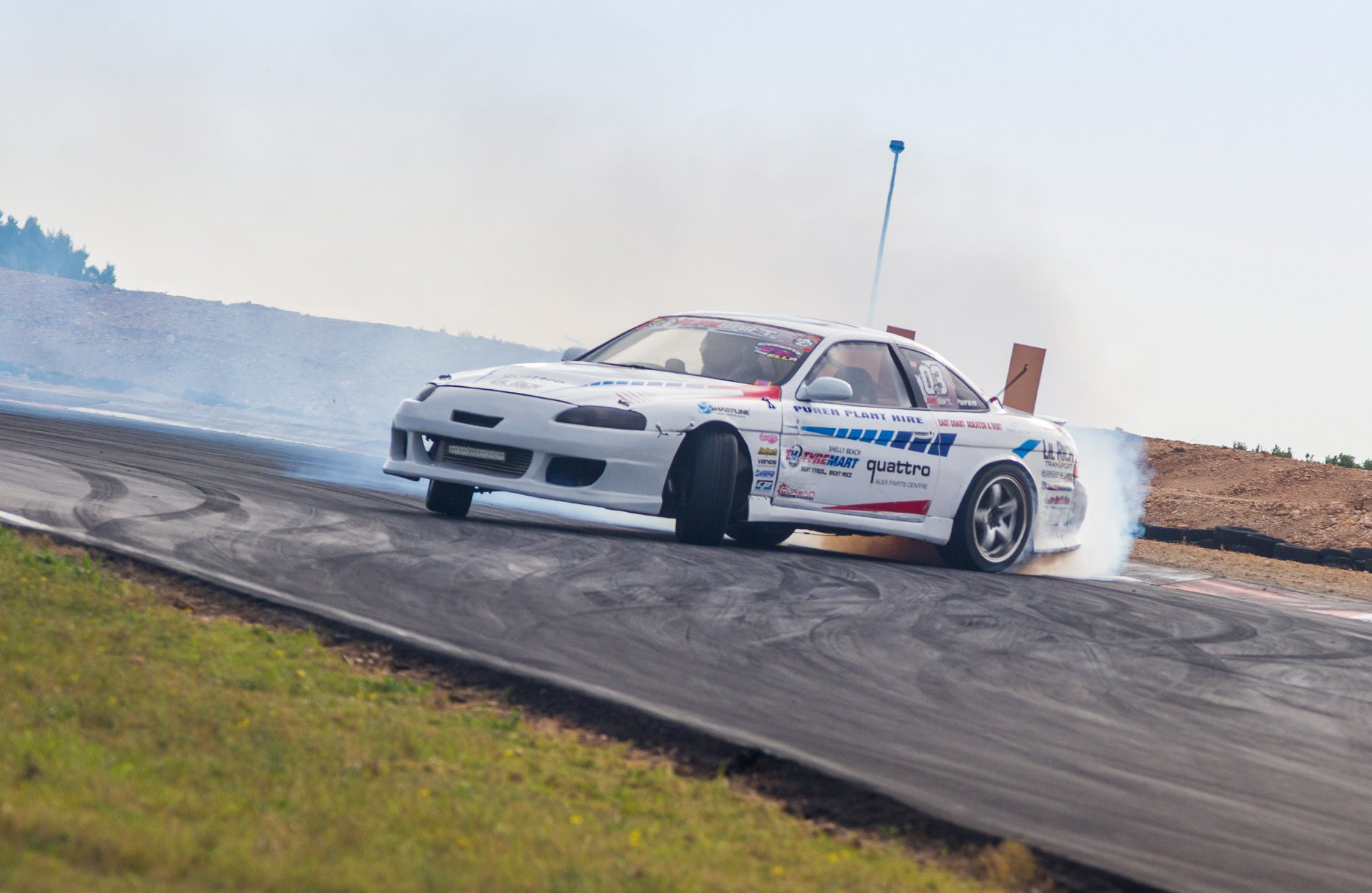 Gavin Puren drifting to 2nd place at Round 4 of the 2018 SupaDrift Series