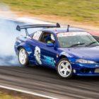 Jonno van Eyssen drifting in the Supadrift Series championship
