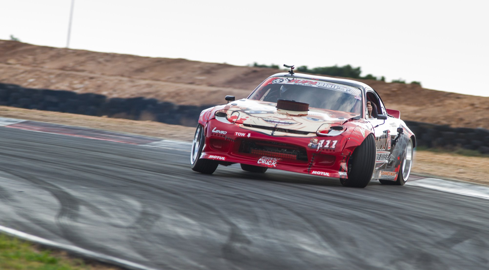 Drifting action from Round 4 of the 2018 SupaDrift Series