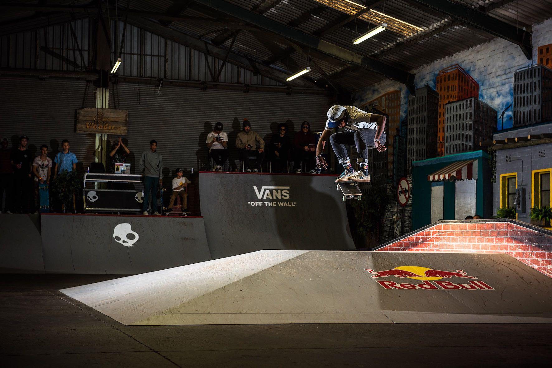 Thalente Biyela taking 3rd at the Winter Jam skateboarding contest