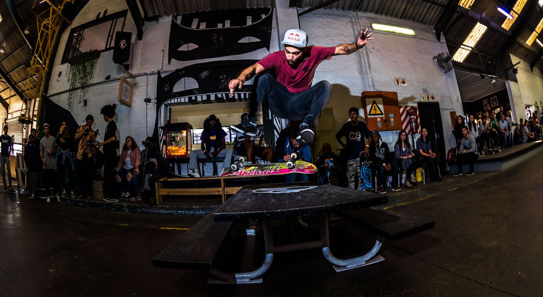 Moses Adams taking 2nd at the Winter Jam skateboarding contest