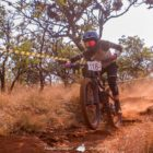 Julia Kotze racing at Stop 2 of the DRI Downhill and Enduro MTB event