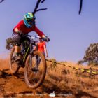 Steffanie Grossmann winning Stop 2 of the Dustin Rudman Invitational Enduro MTB race