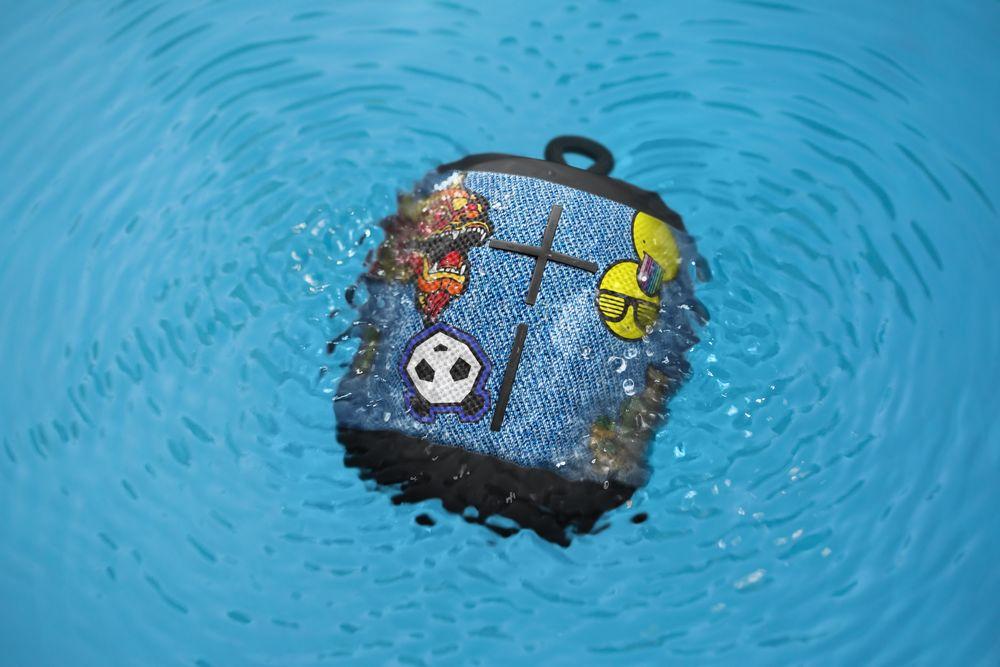 The The Ultimate Ears Wonderboom bluetooth speaker is durable, waterproof, dustproof and shockproof