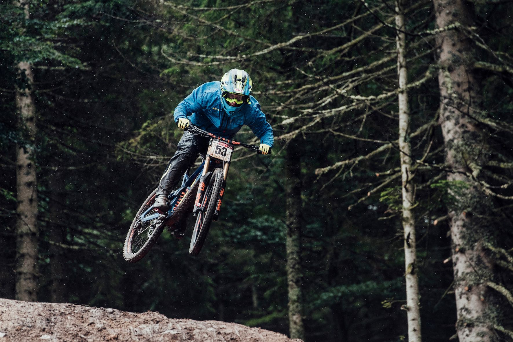 Martin Maes wins the 2018 Downhill MTB World Cup in La Brasse, France
