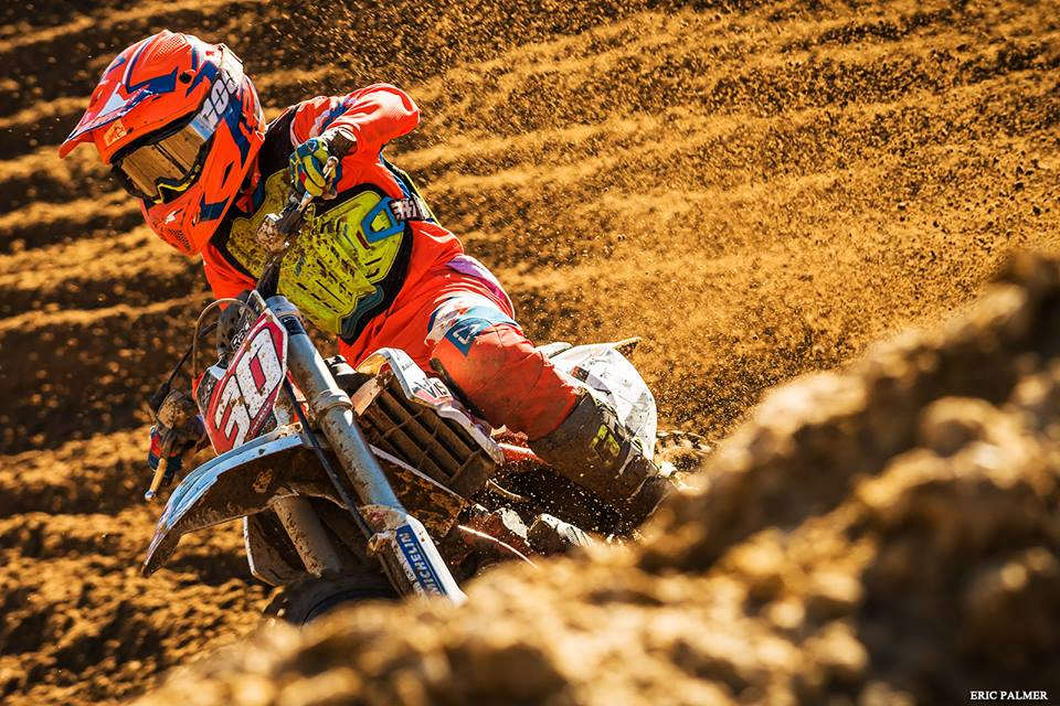 Troy Muraour wind the 65cc class at the Motocross Nationals in Cape Town