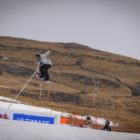 Ladies snowboarding competing in the Ultimate Ears Winter Whip