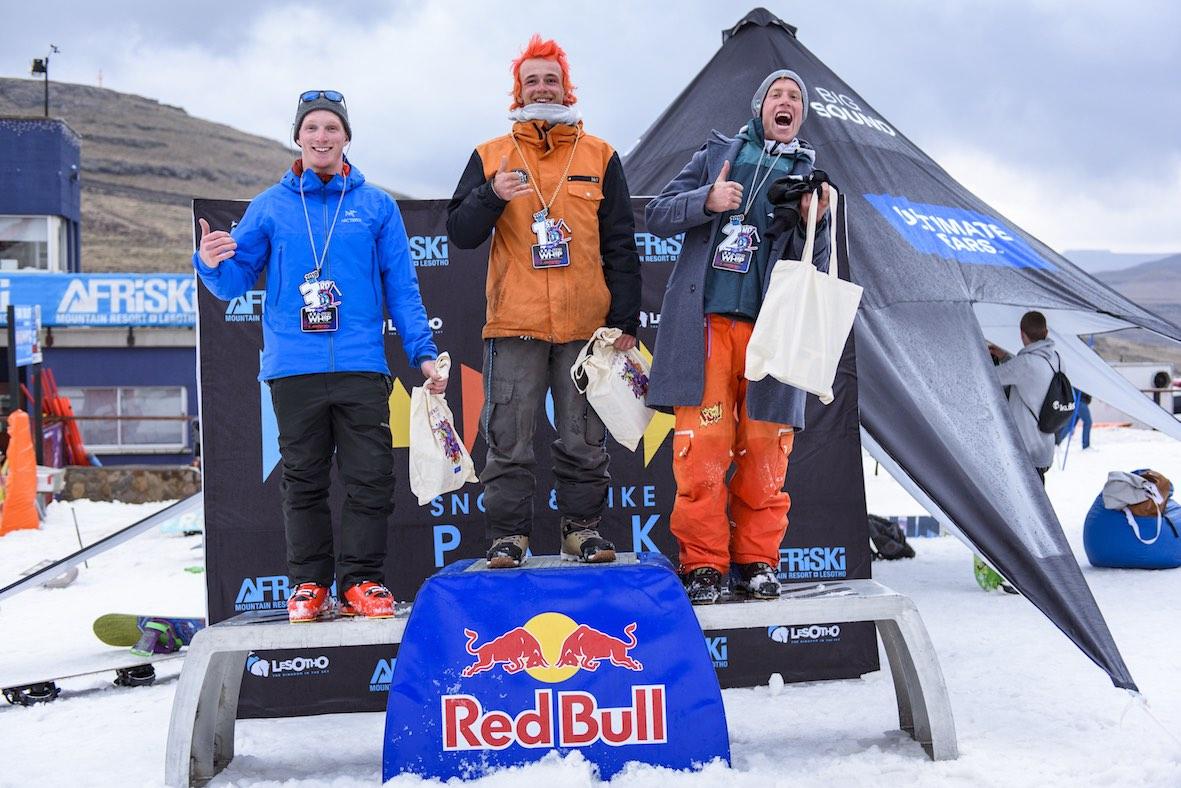 2018 Ultimate Ears Winter Whip Ski podium