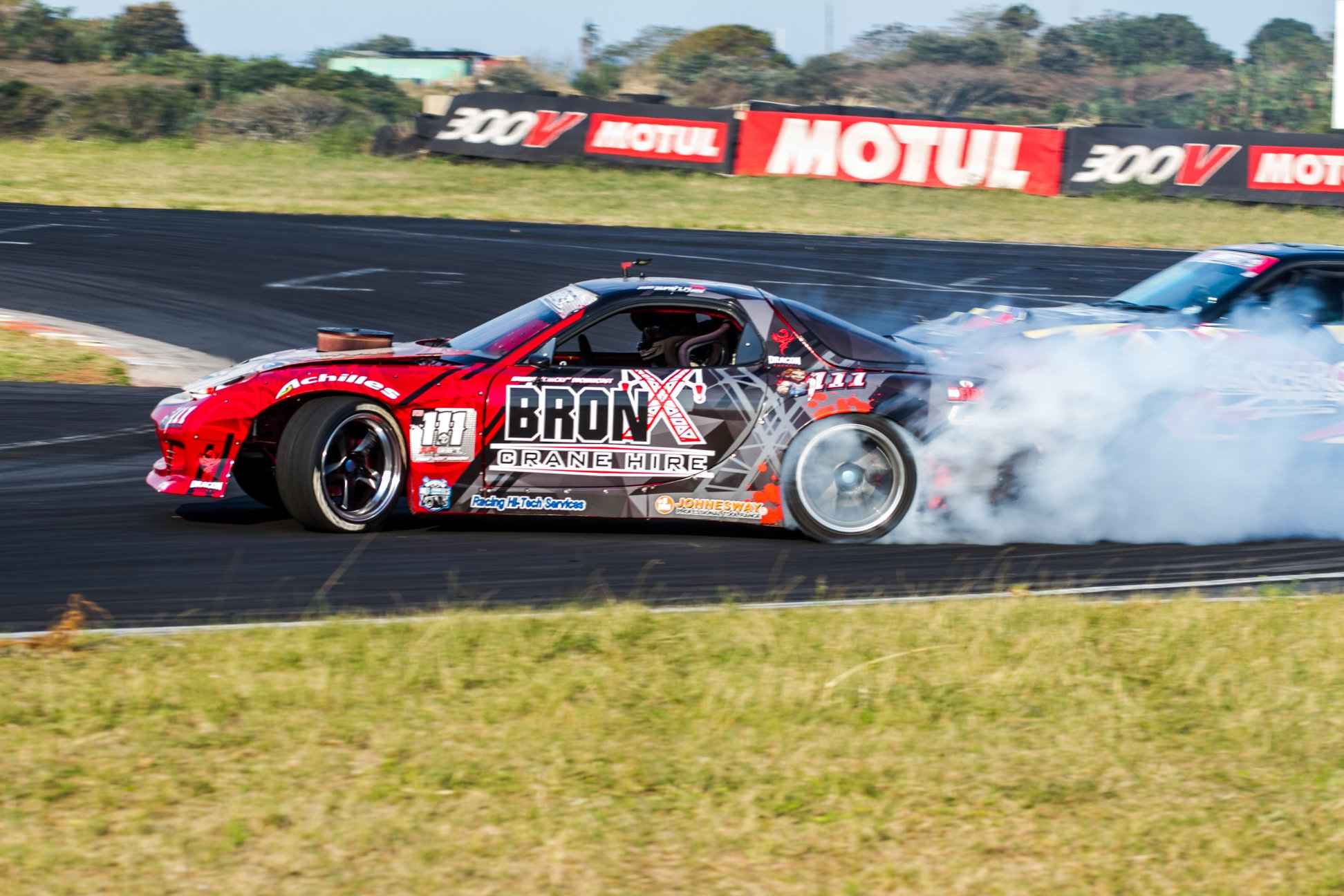 Drifting action from round 5 of the 2018 SupaDrift Series