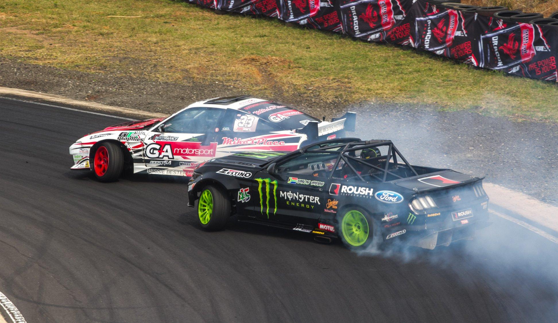 Drifting action at SupaDrift Series from Dezzi Raceway