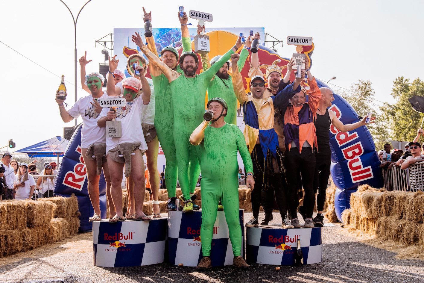 Red Bull Box Cart Race 2018 podium winners