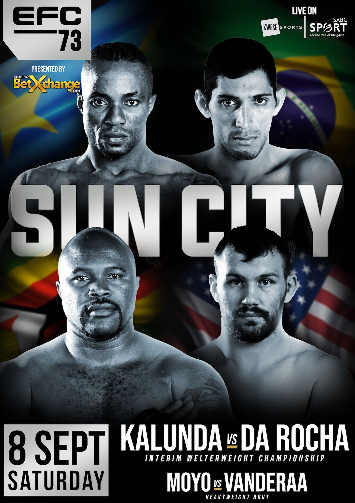 EFC 73 bringing 11 exciting MMA fight to Sun City in September 2018