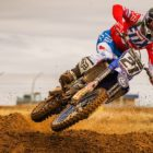 David Goosen racing his way to victory at the Motocross Nationals