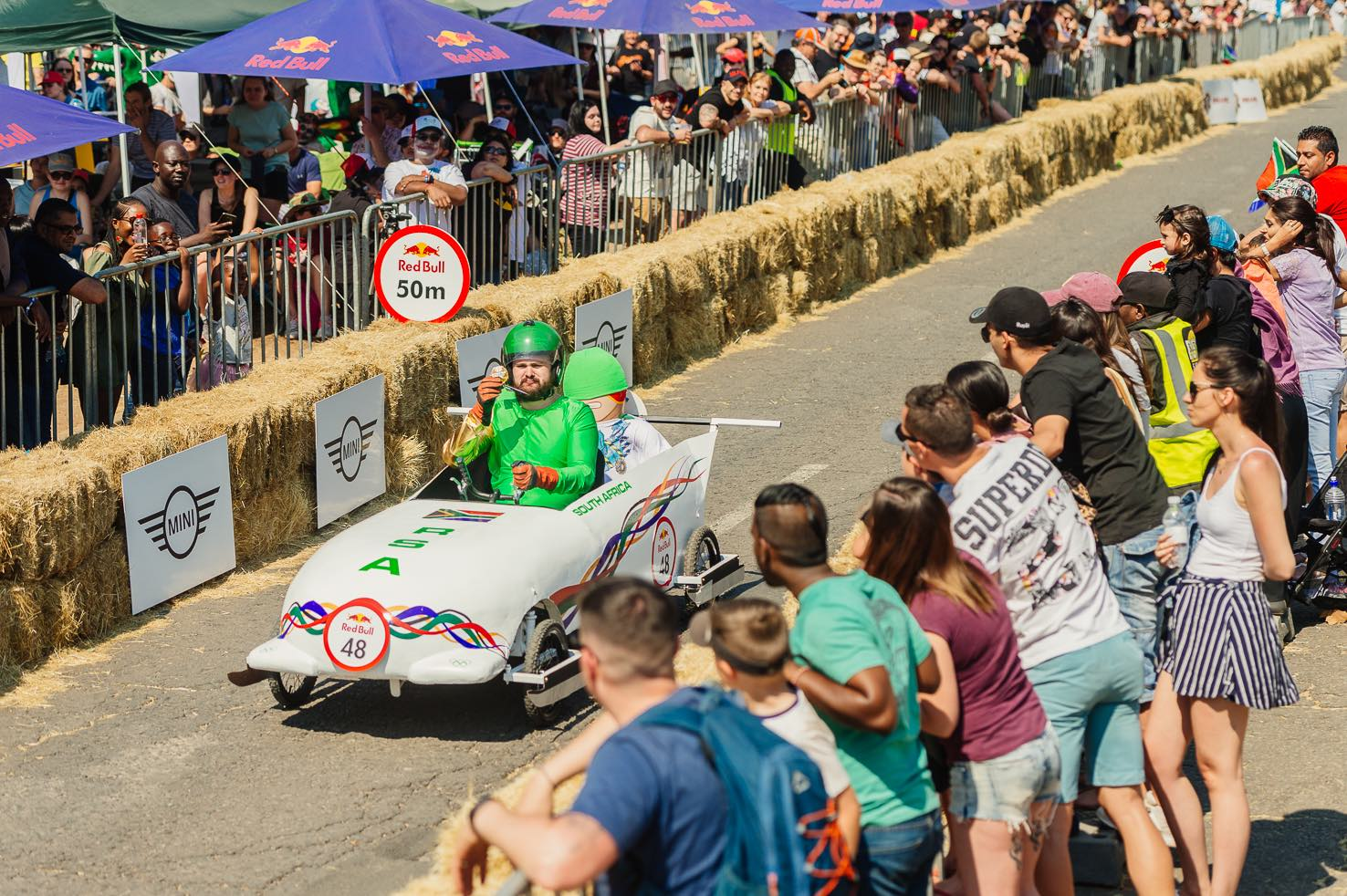 Team SA Bobsled winning the Red Bull Box Cart Race 2018