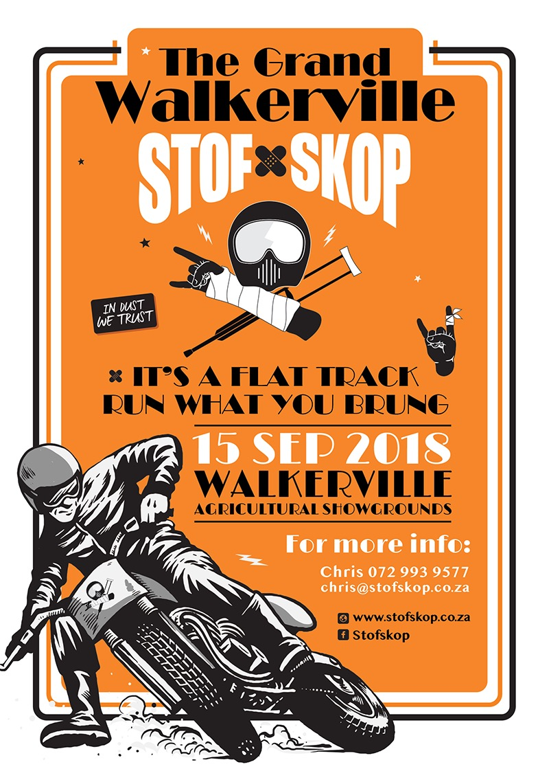 Get ready for the 2018 Stofskop Dash in the Dust motorcycle event taking place at the Walkerville Oval