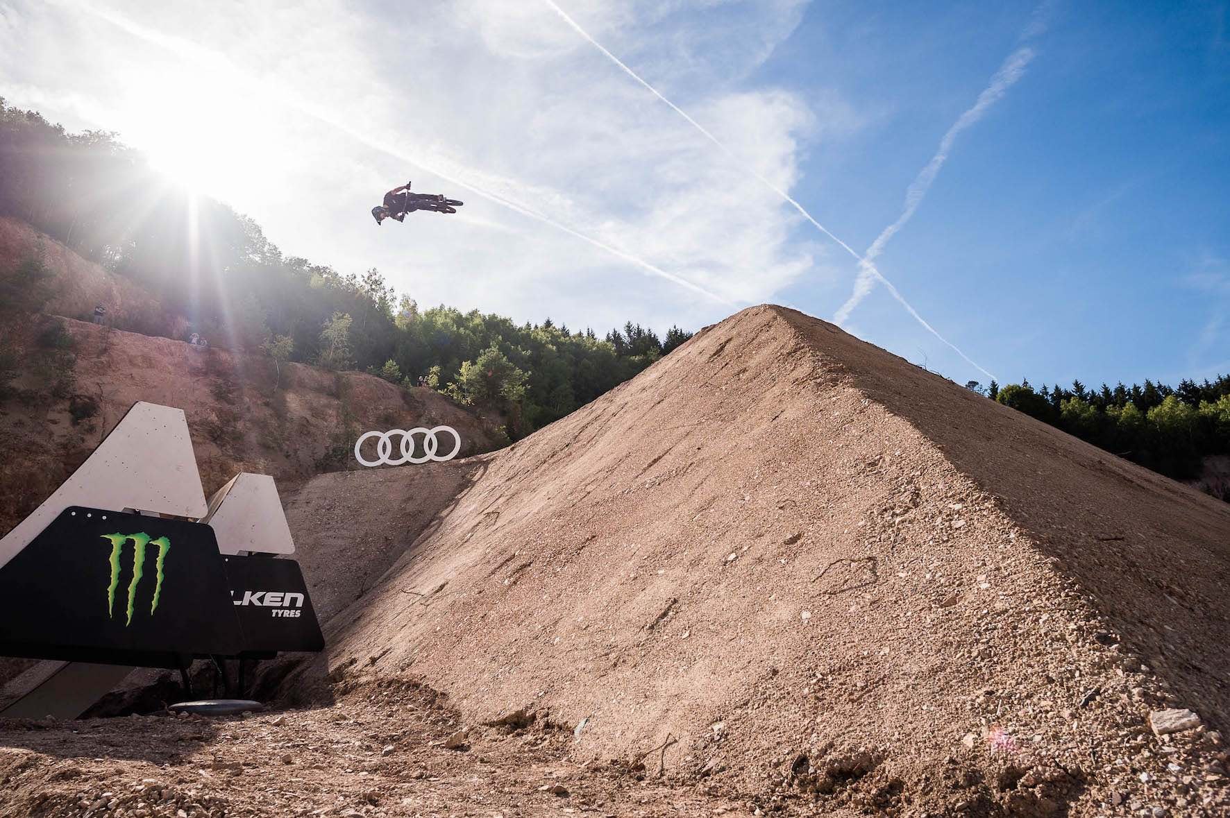 We interview Max Fredriksson about riding at the Audi Nines Slopestyle and Freeride MTB event