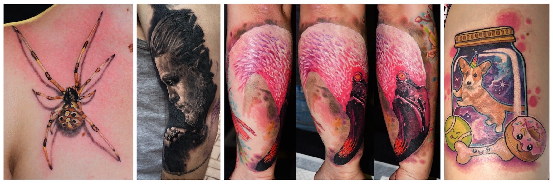 A selection of tattoo by Adam Megens