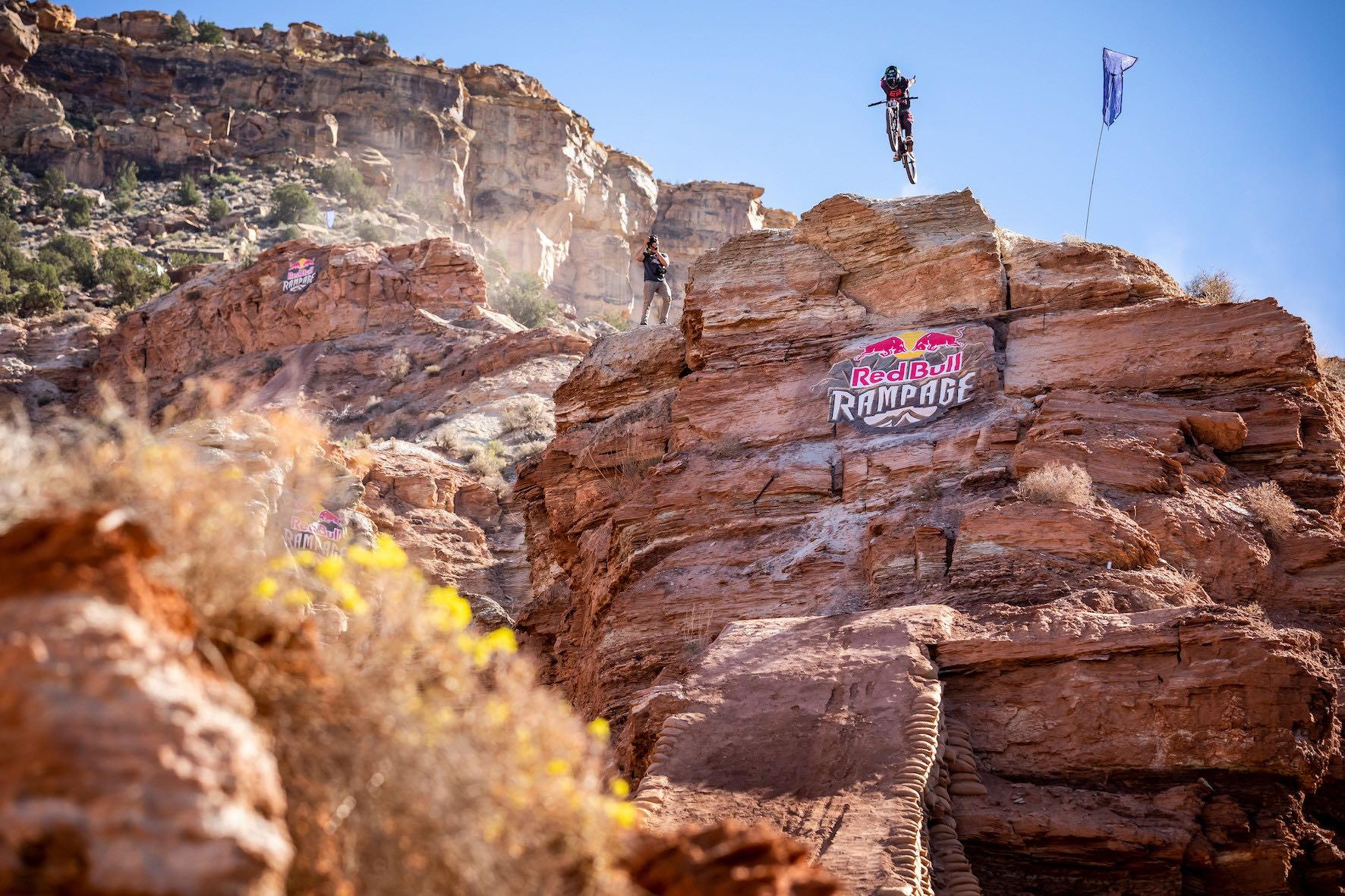 Ethan Nell finishing in 3rd at the 2018 Red Bull Rampage