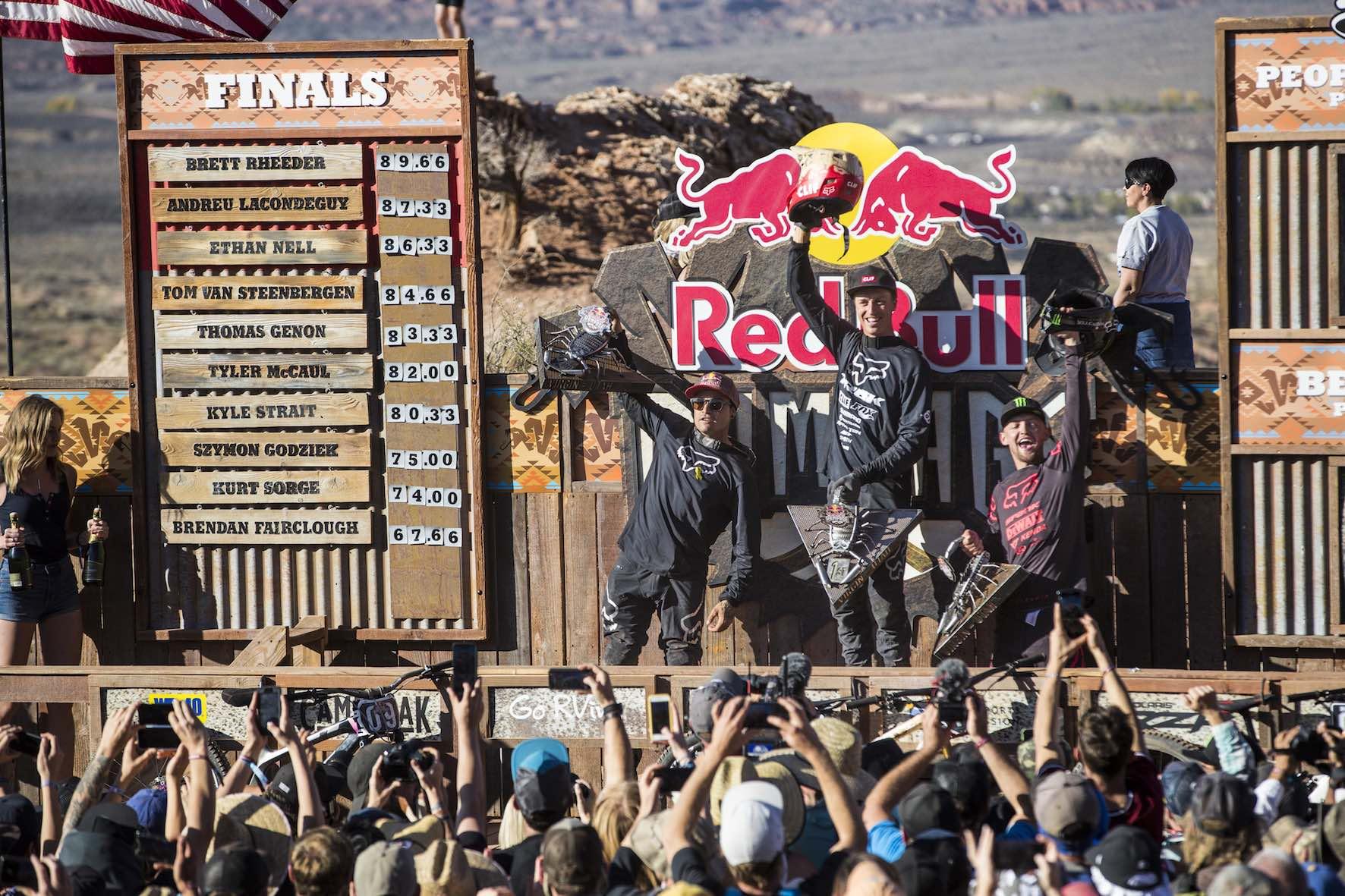 Red Bull Rampage 2018 winners podium