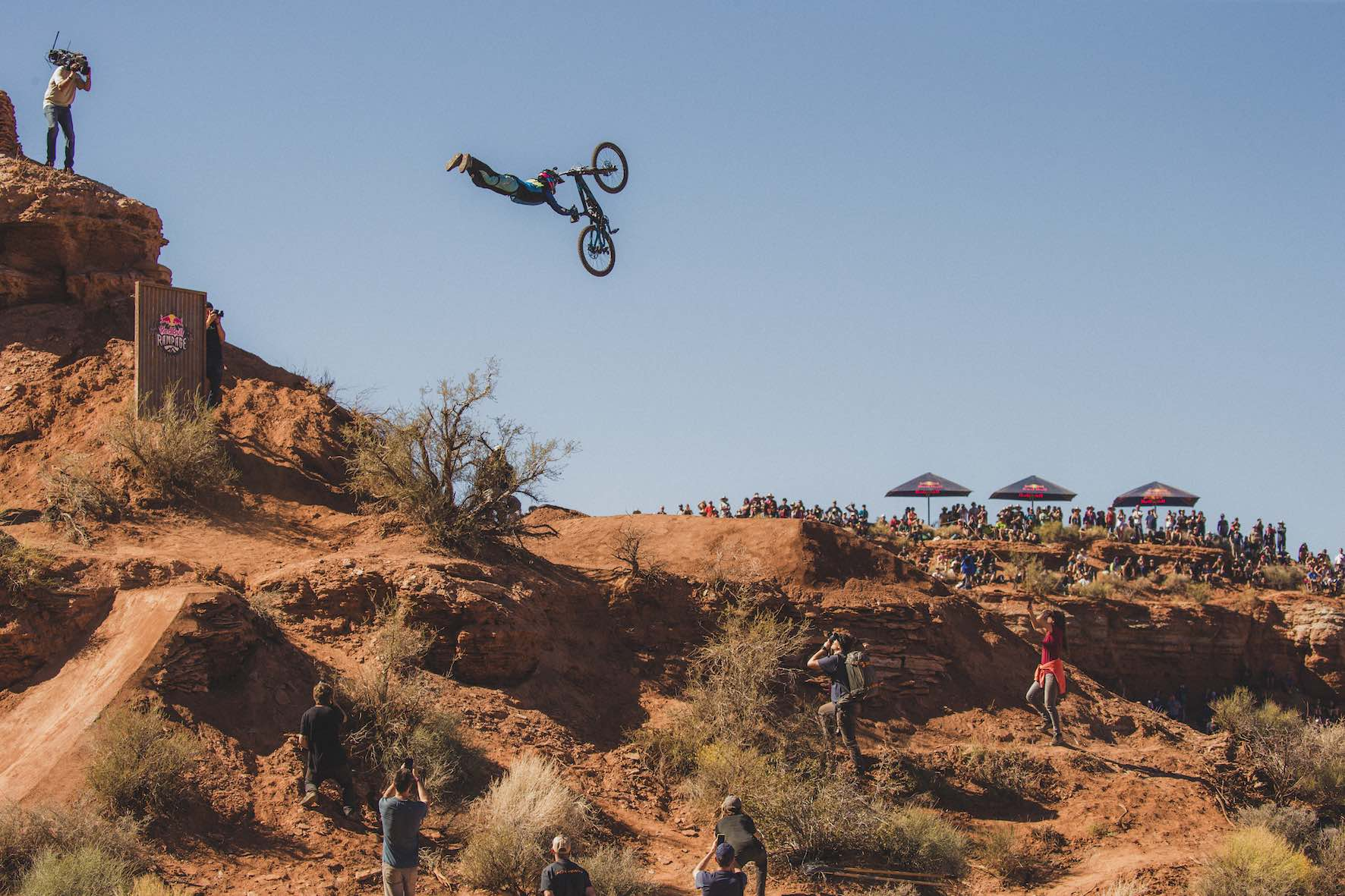 Adolf Silva winning the People's Choice award at Red Bull Rampage 2018
