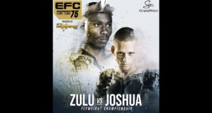 See the full MMA fight card for EFC 75 taking place in Cape Town