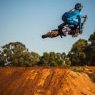 Tristan Purdon racing his way to victory at the final round of the MX Nationals
