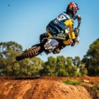 Maddy Malan racing in the final round of the Motocross Nationals