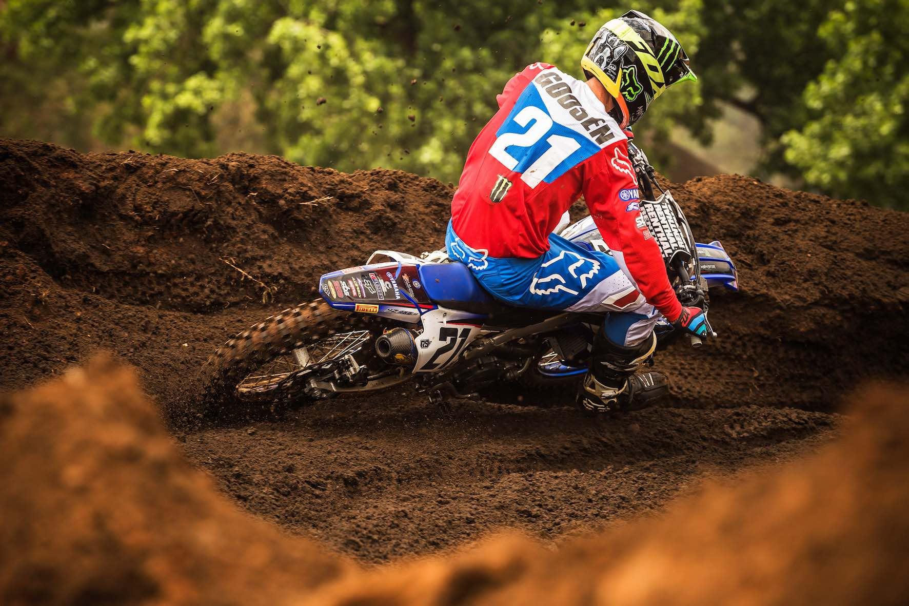 David Goosen racing in the Motocross Nationals at Dirt Bronco