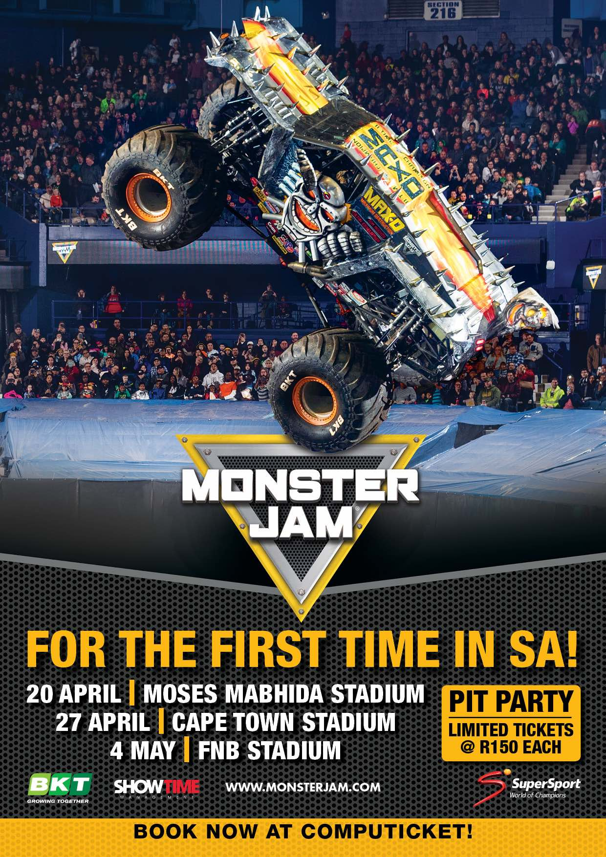 Get ready for Monster Truck madness as<strong> Monster Jam </strong>comes to South Africa for the first time ever in 2019.