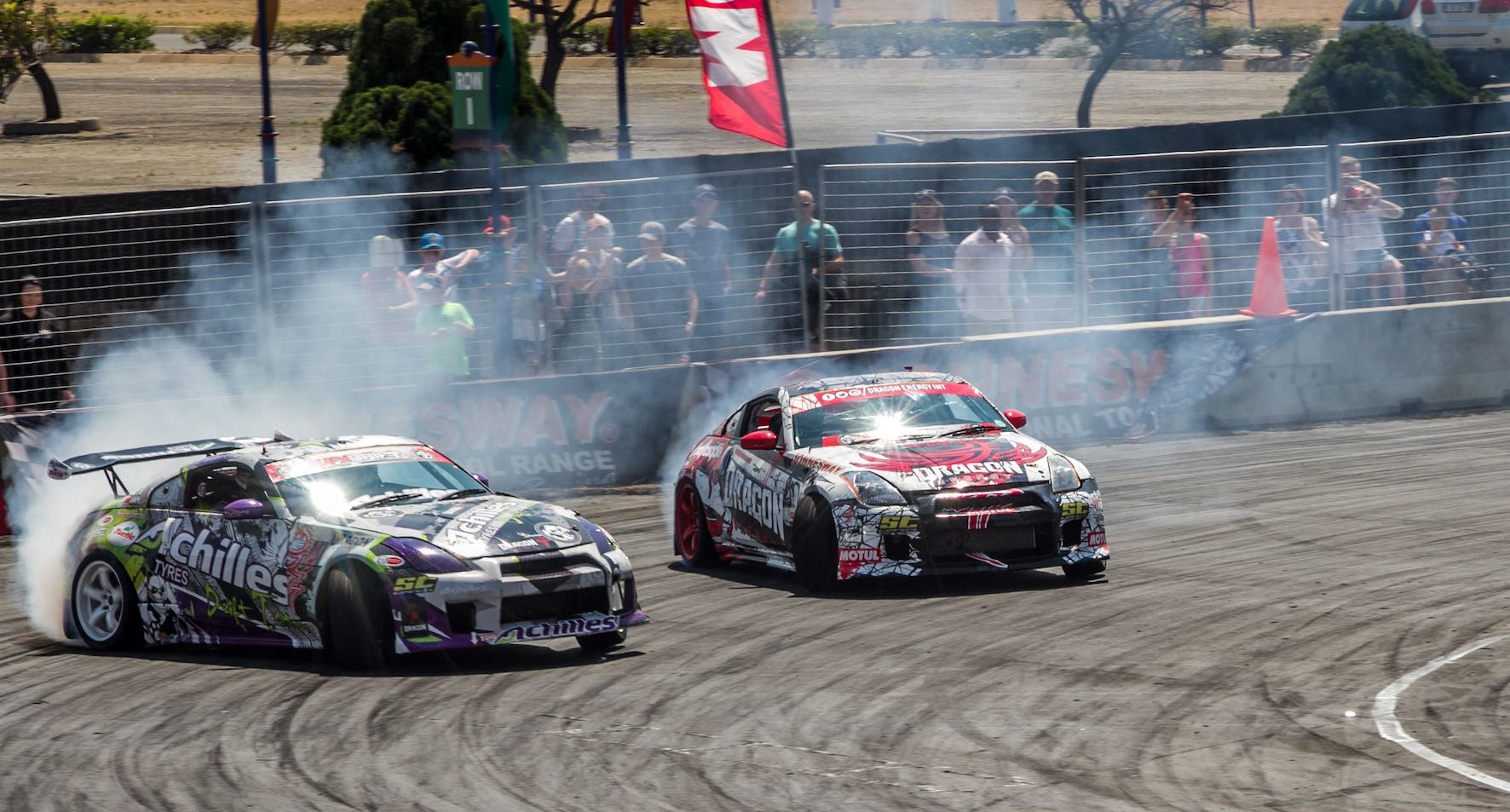 Drifting action from Round 6 of the 2018 SupaDrift Series