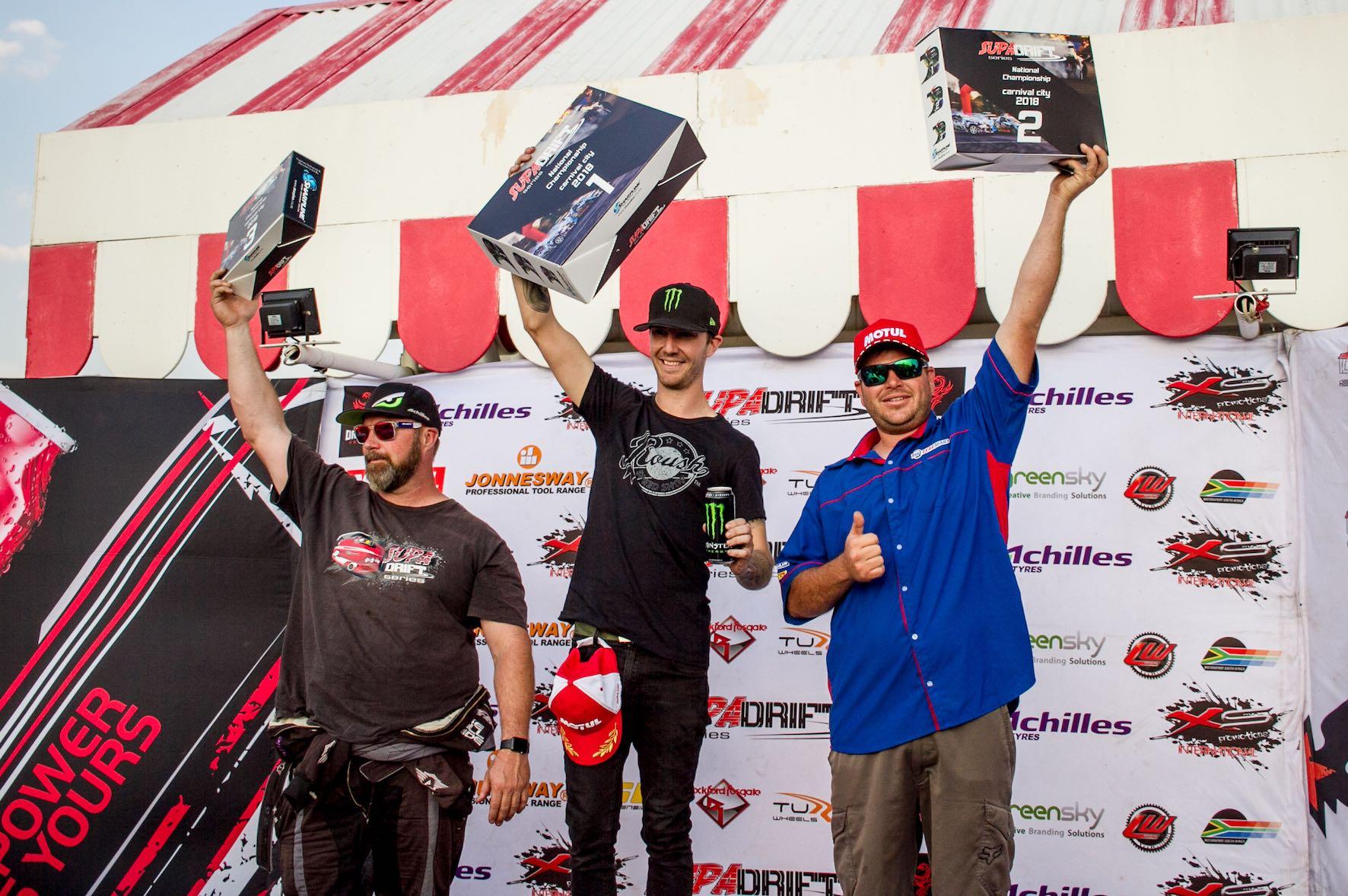 SupaDrift Series Round 6 podium