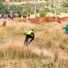Beani Thies racing her way to the fastest time at the DRI Downhill MTB race
